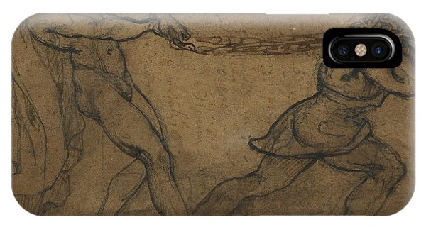 A Male Nude Pulled By Another Male IPhone Case
