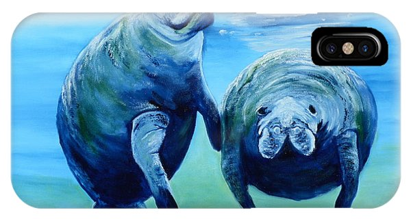 A Manatee Family IPhone Case