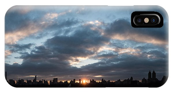 A Manhattan Sunset IPhone Case