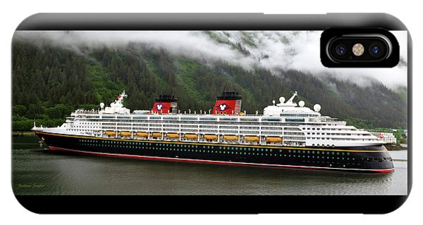 A Mickey Mouse Cruise Ship IPhone Case
