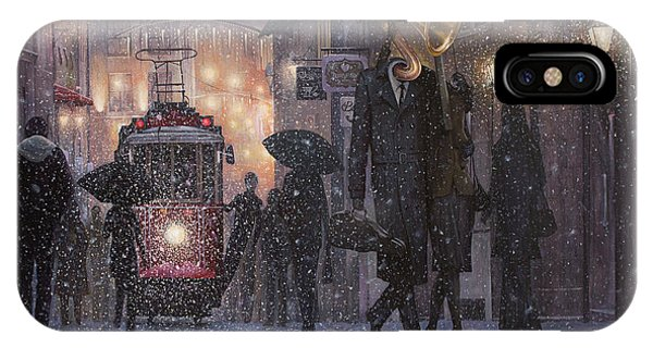 Cold iPhone Case - A Midwinter Night's Dream by Adrian Borda