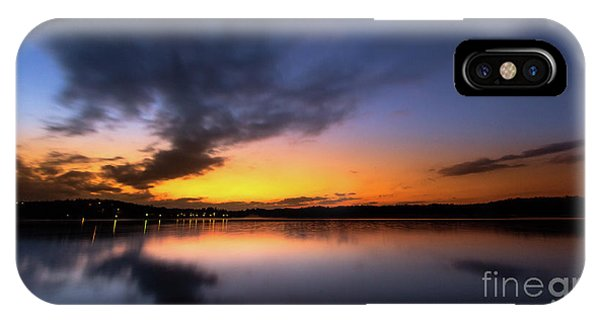 A Misty Sunset On Lake Lanier IPhone Case