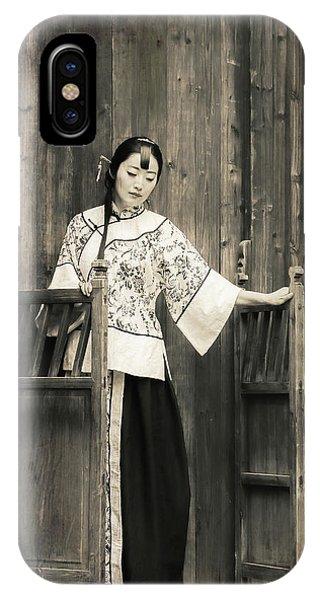 A Model In A Period Costume. IPhone Case