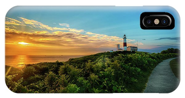 A Montauk Lighthouse Sunrise IPhone Case