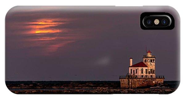 A Moonsetting Sunrise IPhone Case
