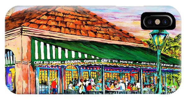 A Morning At Cafe Du Monde IPhone Case