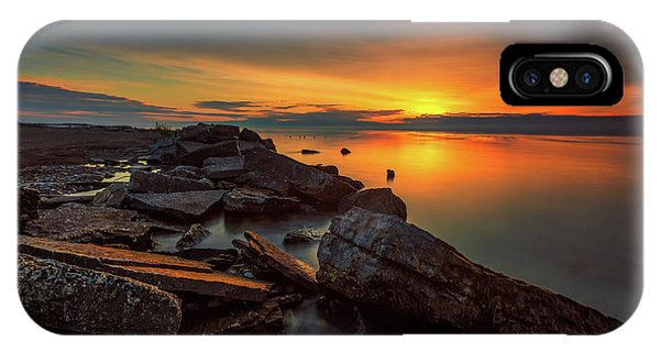 A Morning On The Rocks IPhone Case
