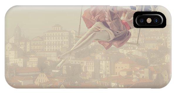 Surreal iPhone Case - a morning over Oporto by Anka Zhuravleva