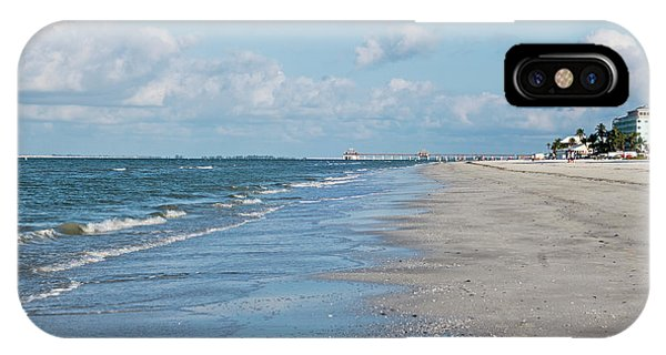 A Morning Walk On Fort Myers Beach Fort Myers Florida IPhone Case