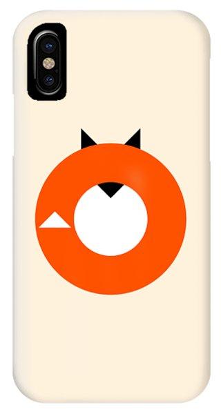 Fall iPhone Case - A Most Minimalist Fox by Nicholas Ely