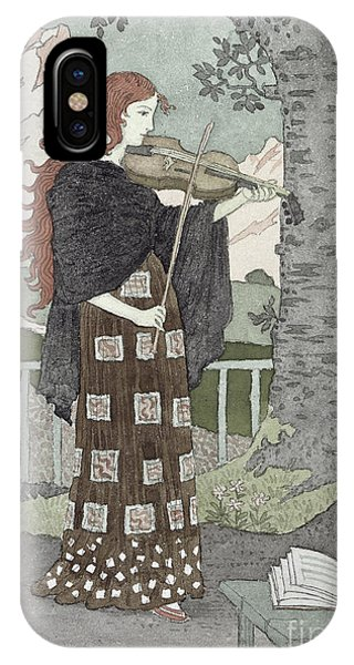 Violin iPhone X Case - A Musician by Eugene Grasset