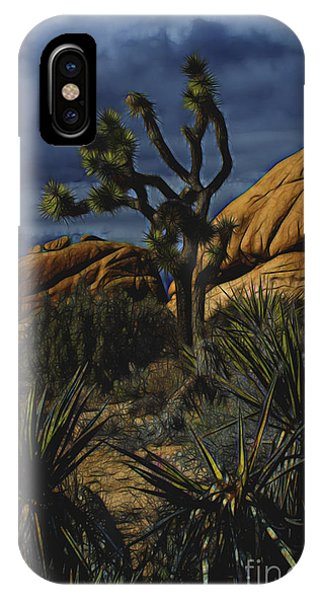 A Mysterious Stormy Desert Sky IPhone Case