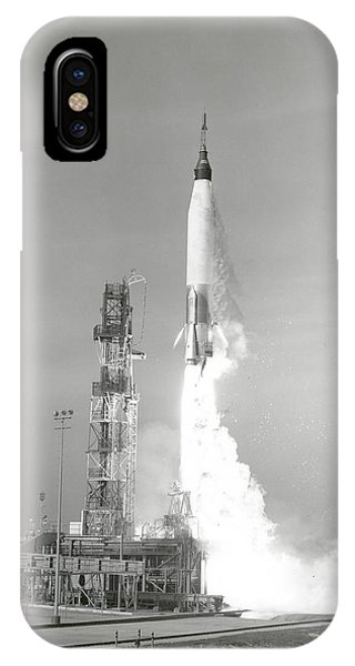 Liftoff iPhone Case - A Nasa Project Mercury Spacecraft by Stocktrek Images
