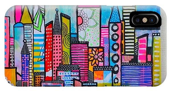 iPhone Case - A New 12 X12 #cityscape #collage by Robin Mead
