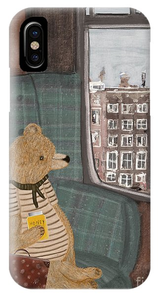 Trains iPhone Case - A New Adventure For Bear  by Bri Buckley