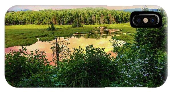 A New England Bog. IPhone Case