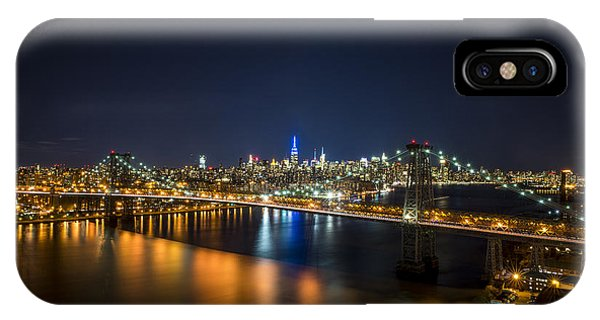IPhone Case featuring the photograph A New York City Night by Johnny Lam