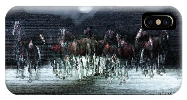 A Night Of Wild Horses IPhone Case