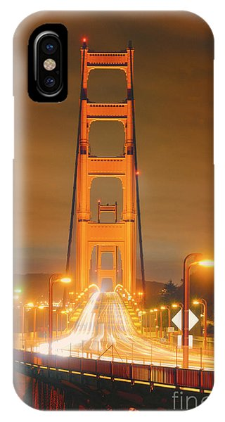 A Night View Of The Golden Gate Bridge From Vista Point In Marin County - Sausalito California IPhone Case