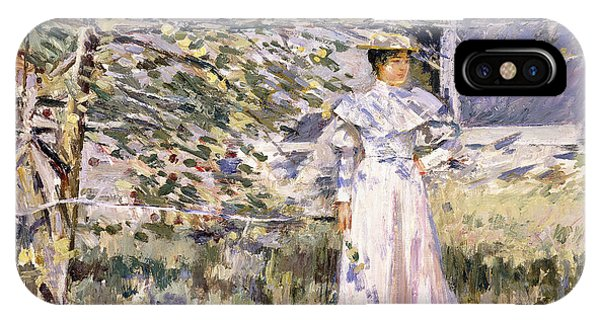 Normandy iPhone Case - A Normandy Garden, October by Theodore Robinson