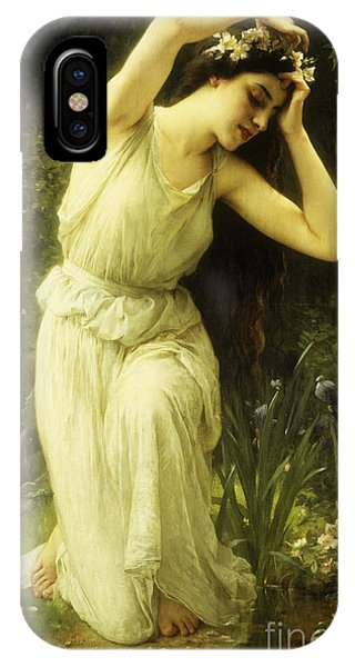 Awakening iPhone Case - A Nymph In The Forest by Charles Amable Lenoir