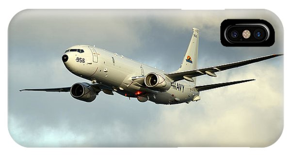 A P-8a Poseidon In Flight IPhone Case