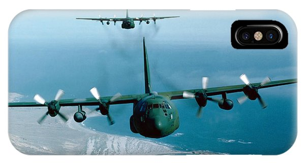 A Pair Of C-130 Hercules In Flight IPhone Case