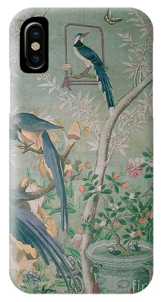 Magpies iPhone Case - A Pair Of Magpie Jays  Vintage Wallpaper by John James Audubon