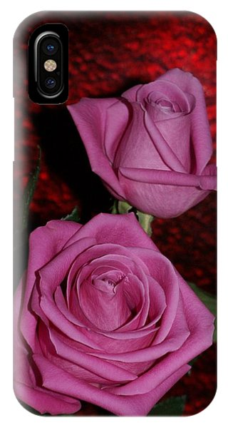 A Pair Of Pink Roses IPhone Case