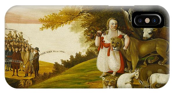 A Peaceable Kingdom With Quakers Bearing Banners IPhone Case