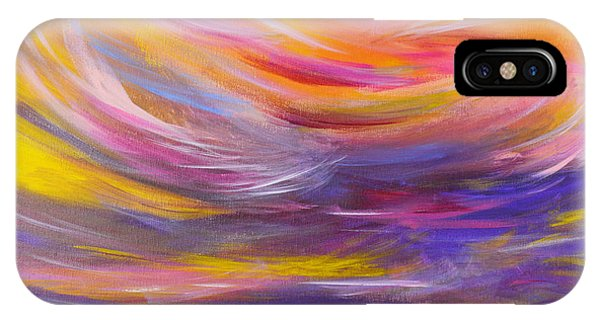 A Peaceful Heart - Abstract Painting IPhone Case