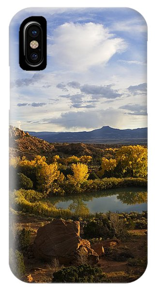 Sangre De Cristo iPhone Case - A Peaceful Landscape Stretches by Ralph Lee Hopkins