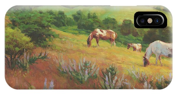 Bush iPhone Case - A Peaceful Nibble by Steve Henderson