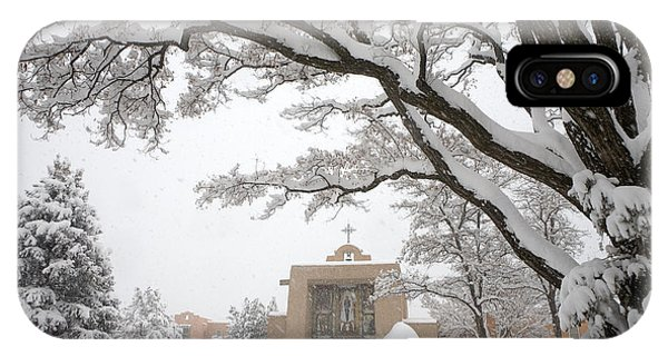 Sangre De Cristo iPhone Case - A Peaceful Winter Scene by Ralph Lee Hopkins