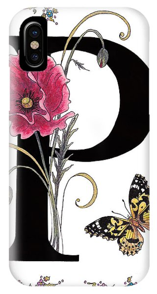 A Pink Poppy And A Painted Lady Butterfly IPhone Case