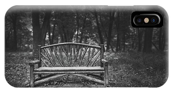Park Bench iPhone Case - A Place To Sit 6 by Scott Norris