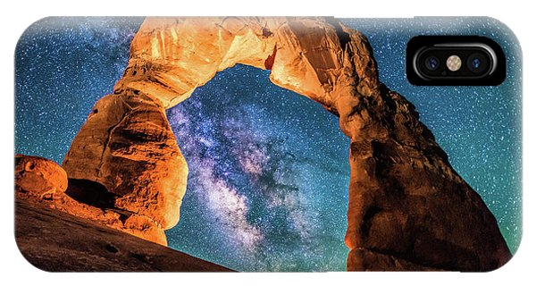 A Portal To The Milky Way At Delicate Arch IPhone Case