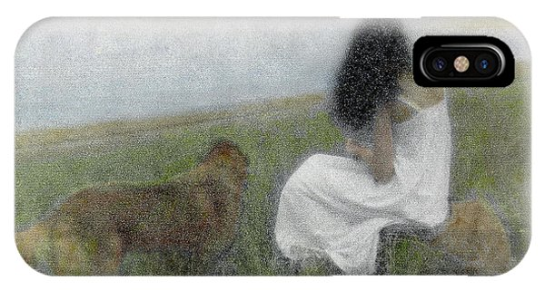 IPhone Case featuring the photograph A Quiet Moment On The Vineyard by Wayne King