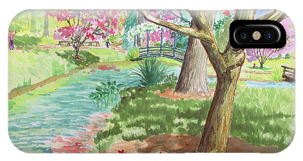 A Quiet Stroll In The Japanese Gardens Of Gibbs Gardens IPhone Case