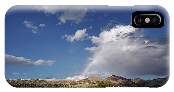 A Rainbow In Salt Lake City IPhone Case