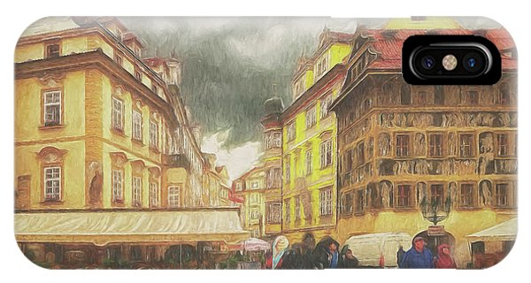 A Rainy Day In Prague IPhone Case