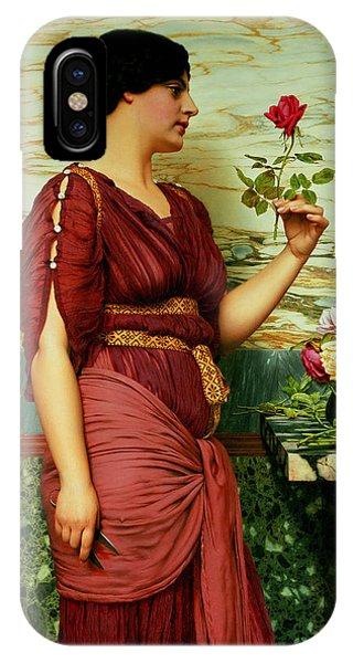 Valentine iPhone Case - A Red Rose   by John William Godward
