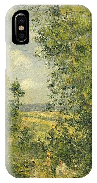 Wiese iPhone Case - A Rest In The Meadow by Camille Pissarro