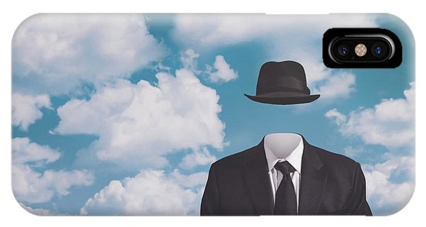 Office iPhone Case - A Riff On Magrittes The Pilgrim by Scott Norris