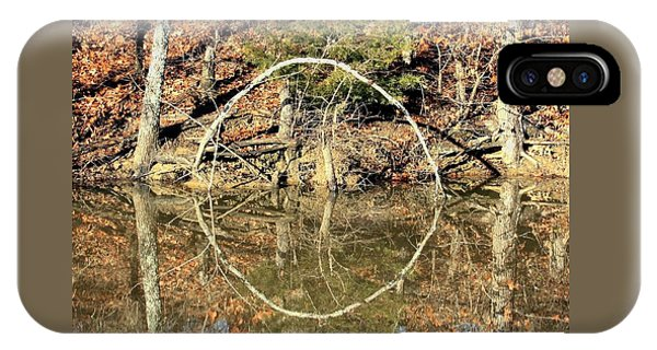 A Ring On The Pond In Fall IPhone Case