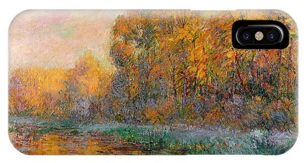 River iPhone Case - A River In Autumn by Gustave Loiseau