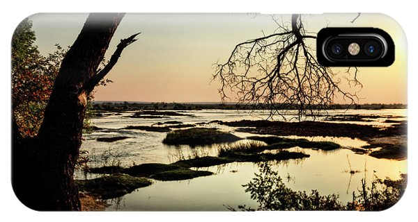 A River Sunset In Botswana IPhone Case
