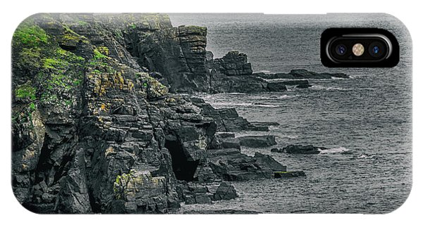 Northern Scotland iPhone Case - A Rocky Cove by Martin Newman