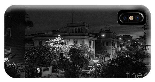 A Roman Street At Night IPhone Case