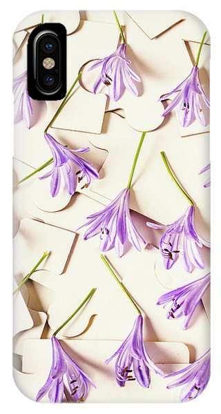 Connections iPhone Case - A Romantic Agapanthus Puzzle by Jorgo Photography - Wall Art Gallery